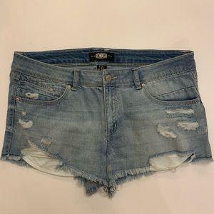Rewash Distressed Jean Cut Off Shorts